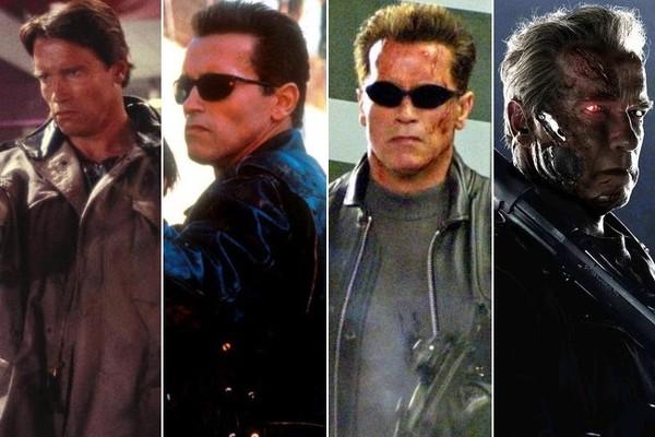 تغییر چهرهی آرنولد در طول 31 سال و چهار فیلم نابودگر