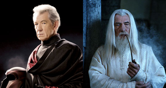 بازی زیبای Ian Mckellen در دو نقش بزرگ : Magneto & Gandalf