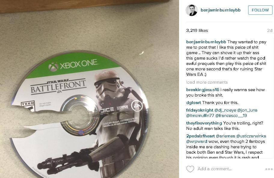 Benjamin Burnley Star Wars Battlefront