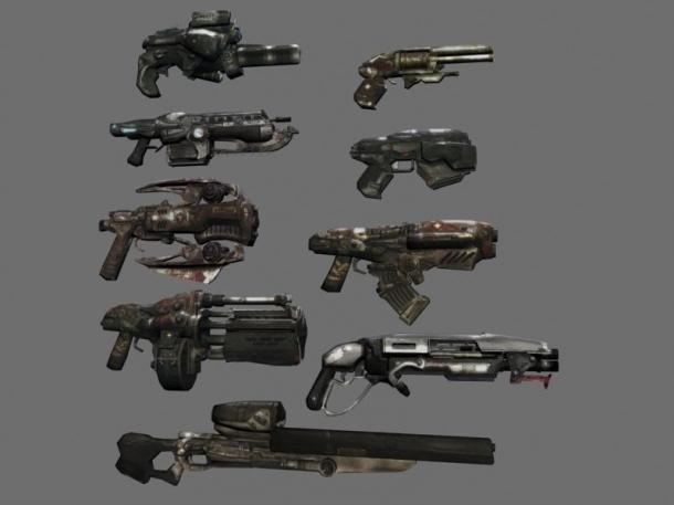 تعداد کمی از لیست بلند و بالای اسلحههای متنوع بازی