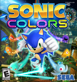 کاور بازی، سونیک احاطه شده توسط ویسپهای رنگارنگ