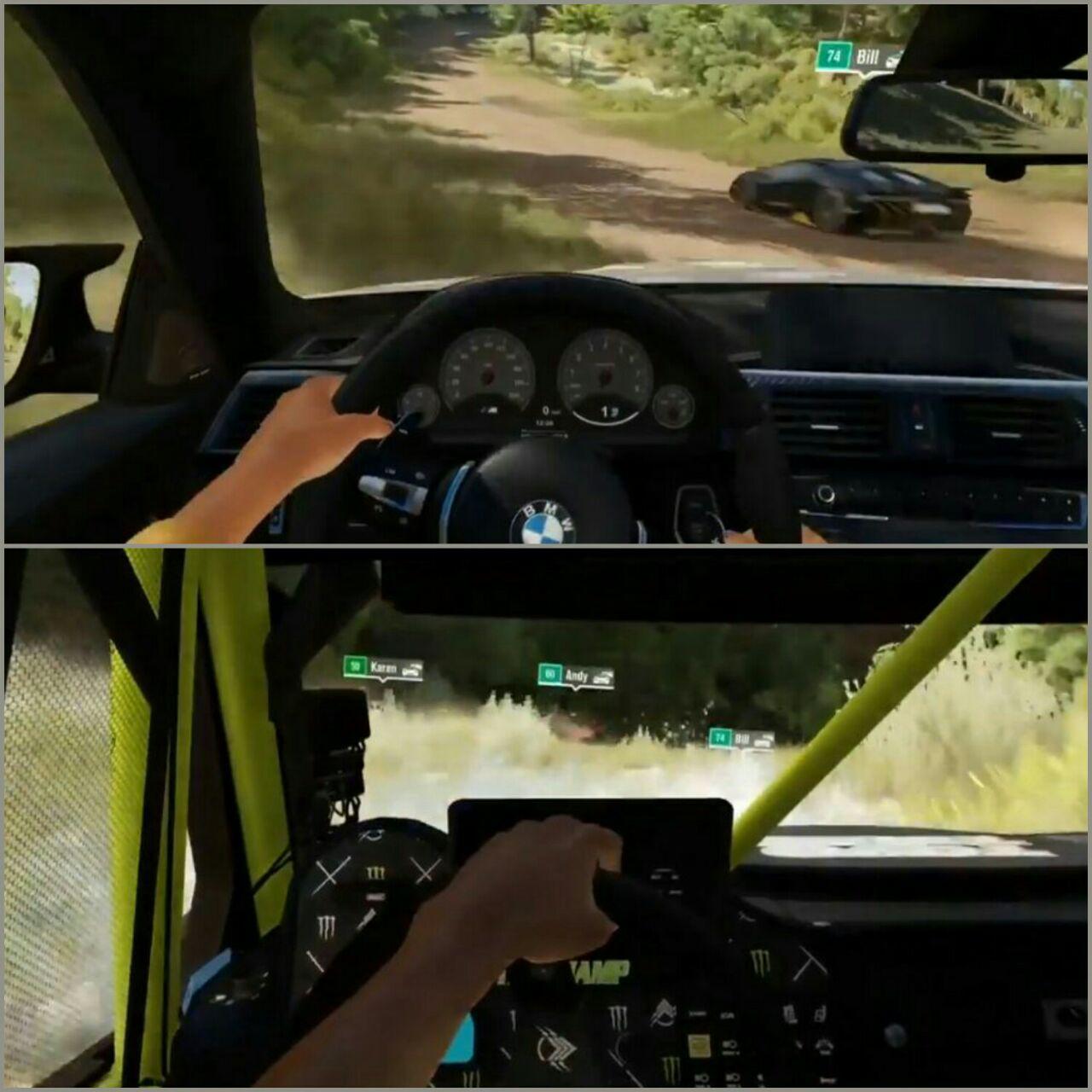 پوشش و رنگ پوست متفاوت رانندههای مختلف در نمایش بازی، ممکن است نشان دهندهی قابلیت شخصی سازی رانندهی مخاطبان در بازی نهایی باشد.