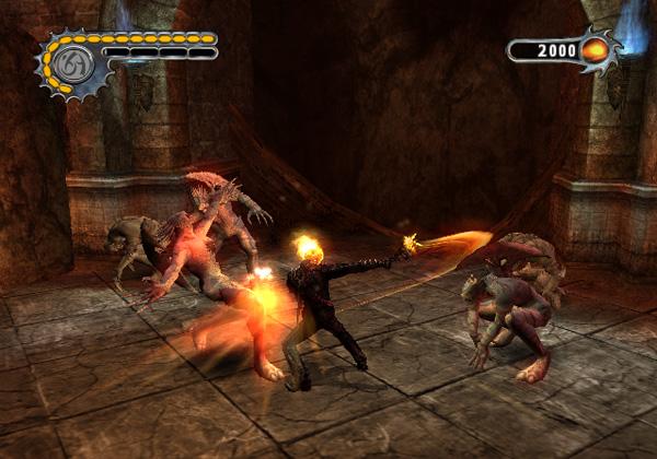 صحنهای از گیم پلی بازی Ghost Rider