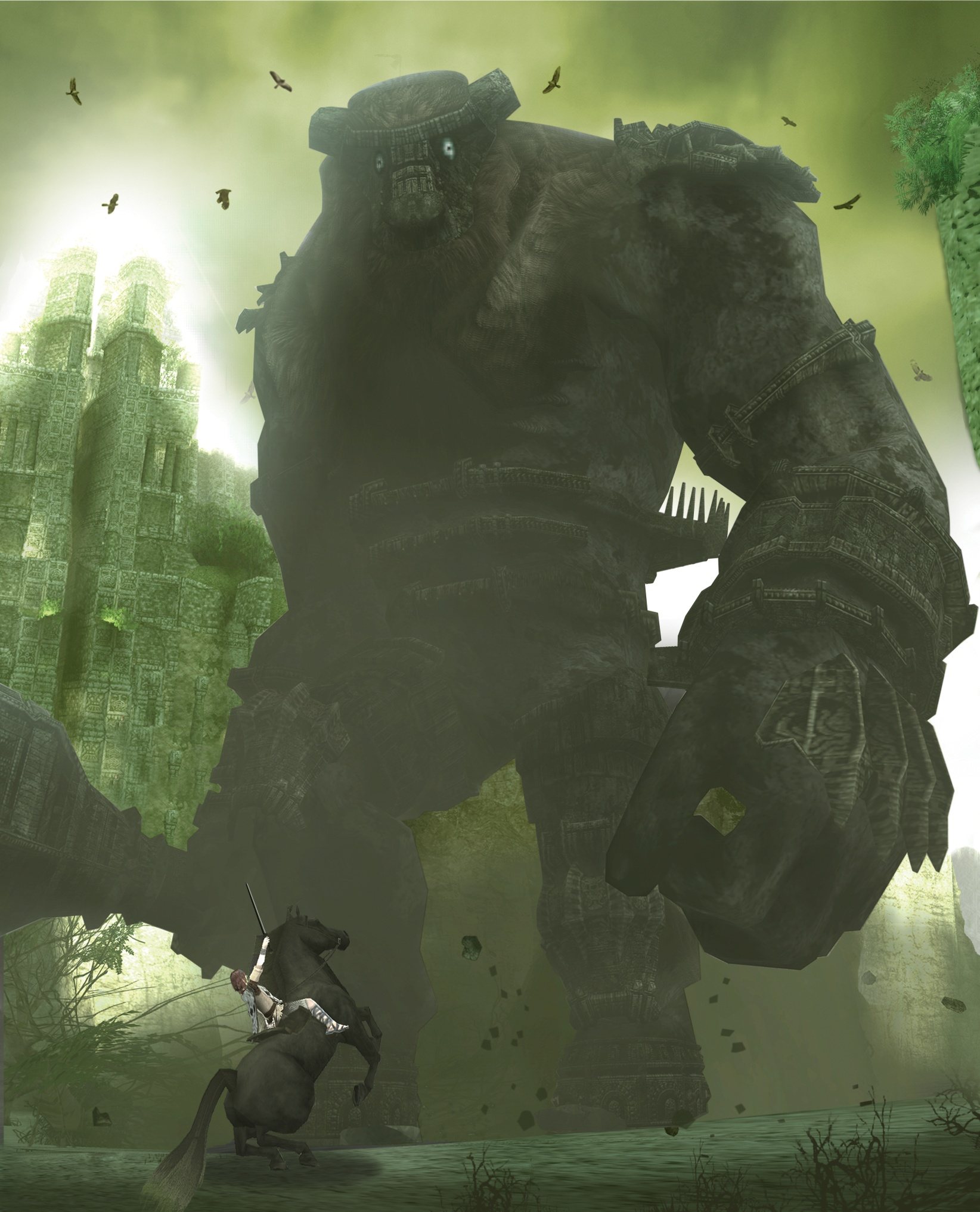 The background image for the SotC PAL boxart.