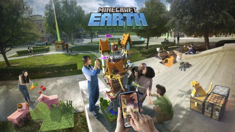 بازی واقعیت افزوده Minecraft Earth