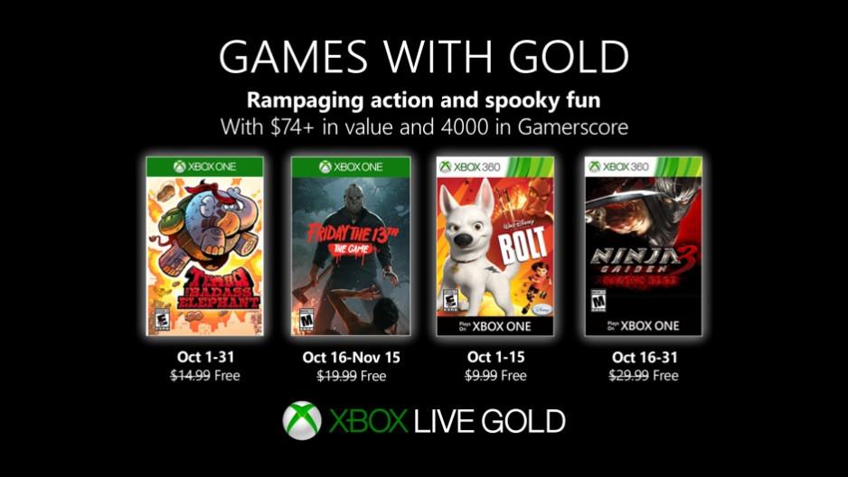 با بازیهای رایگان اکس باکس لایو در اکتبر اشنا شوید