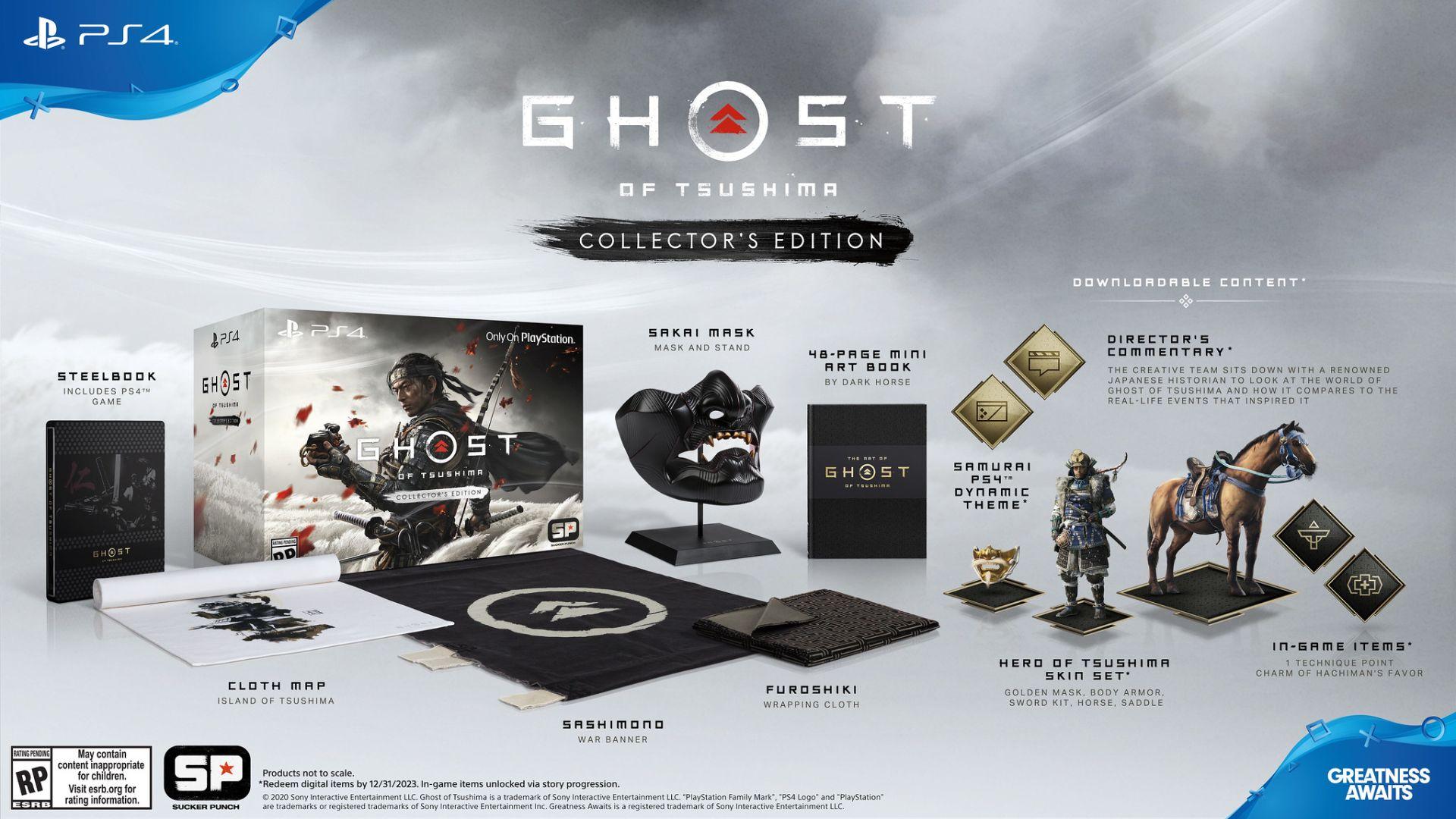 نسخه کالکتور بازی Ghost of Tsushima