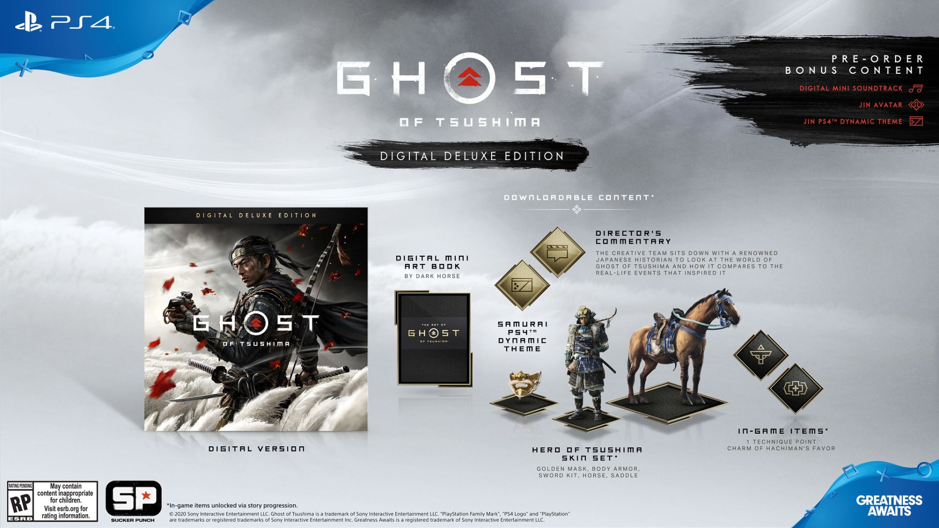 نسخه Digital Deluxe بازی Ghost of Tsushima