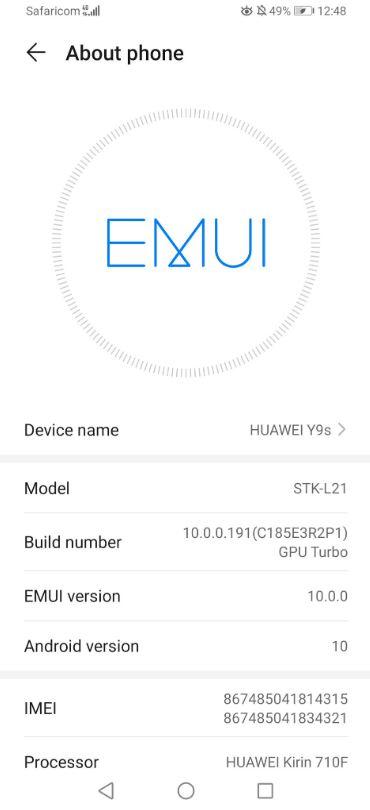 آپدیت  Huawei Y9s و Huawei Y9 Prime 2019