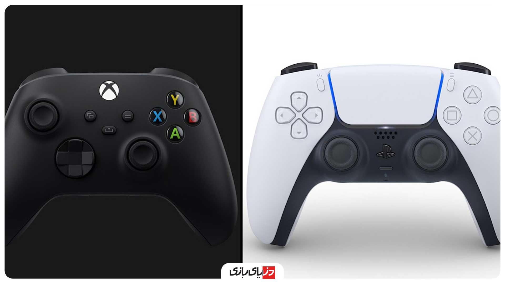 مقایسه کنترلر PS5 با Xbox Series X