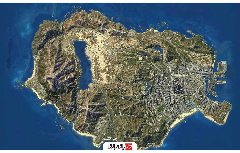 نقشه افقی بازی GTA V