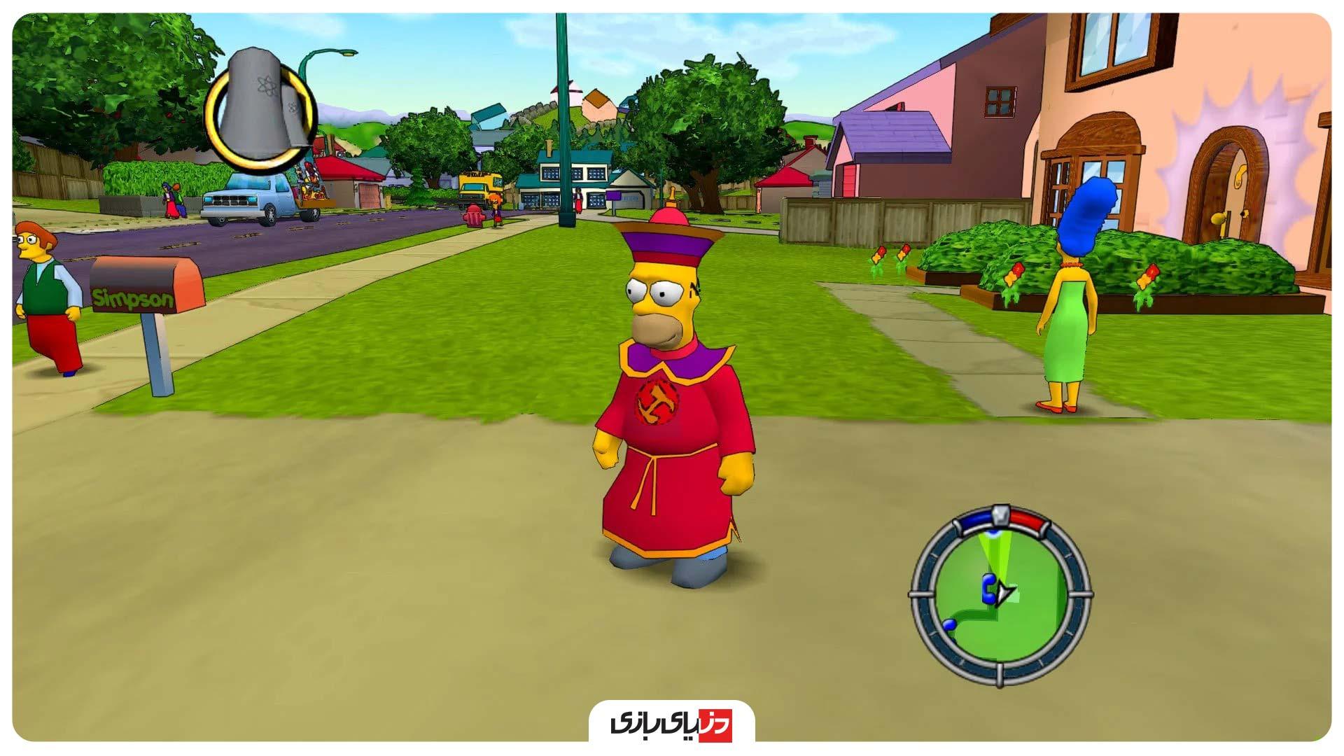 بازی های مشابه GTA - بازی The Simpsons Hit & Run