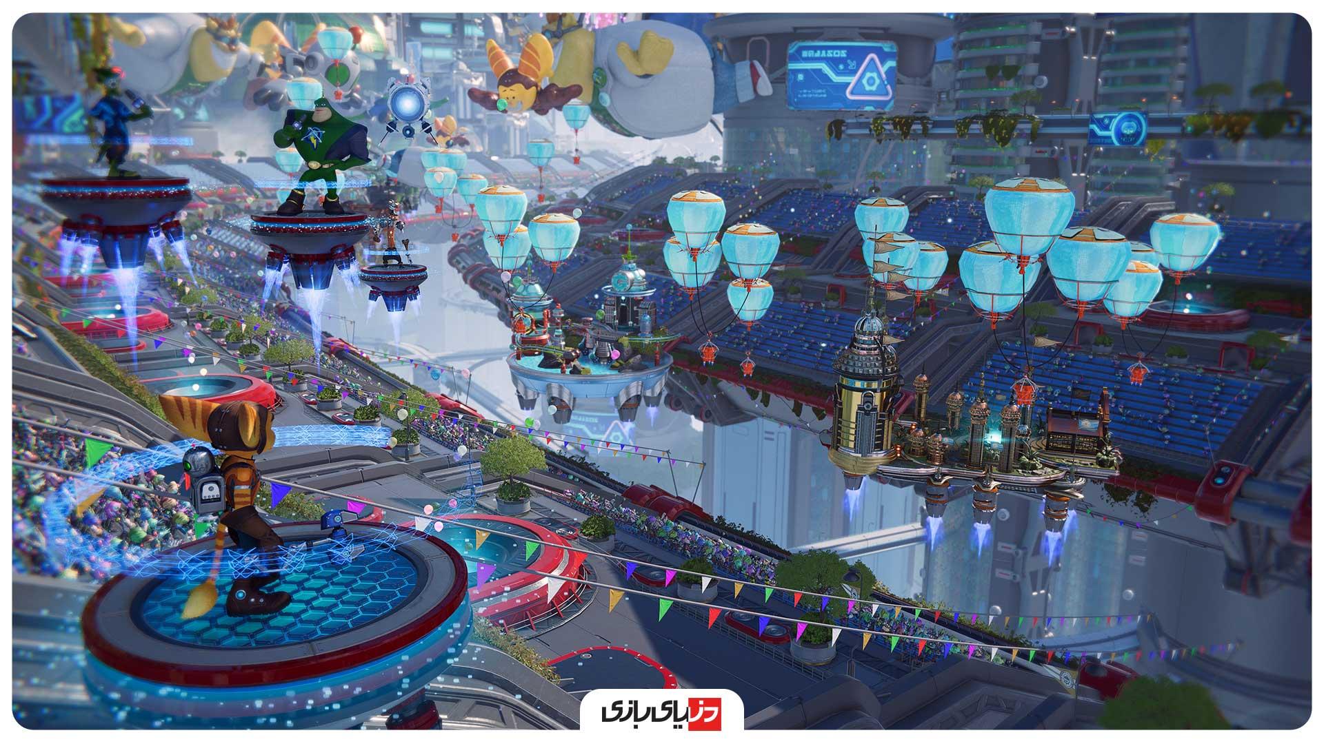 محیطهای شلوغ در بازی Ratchet & Clank: Rift Apart