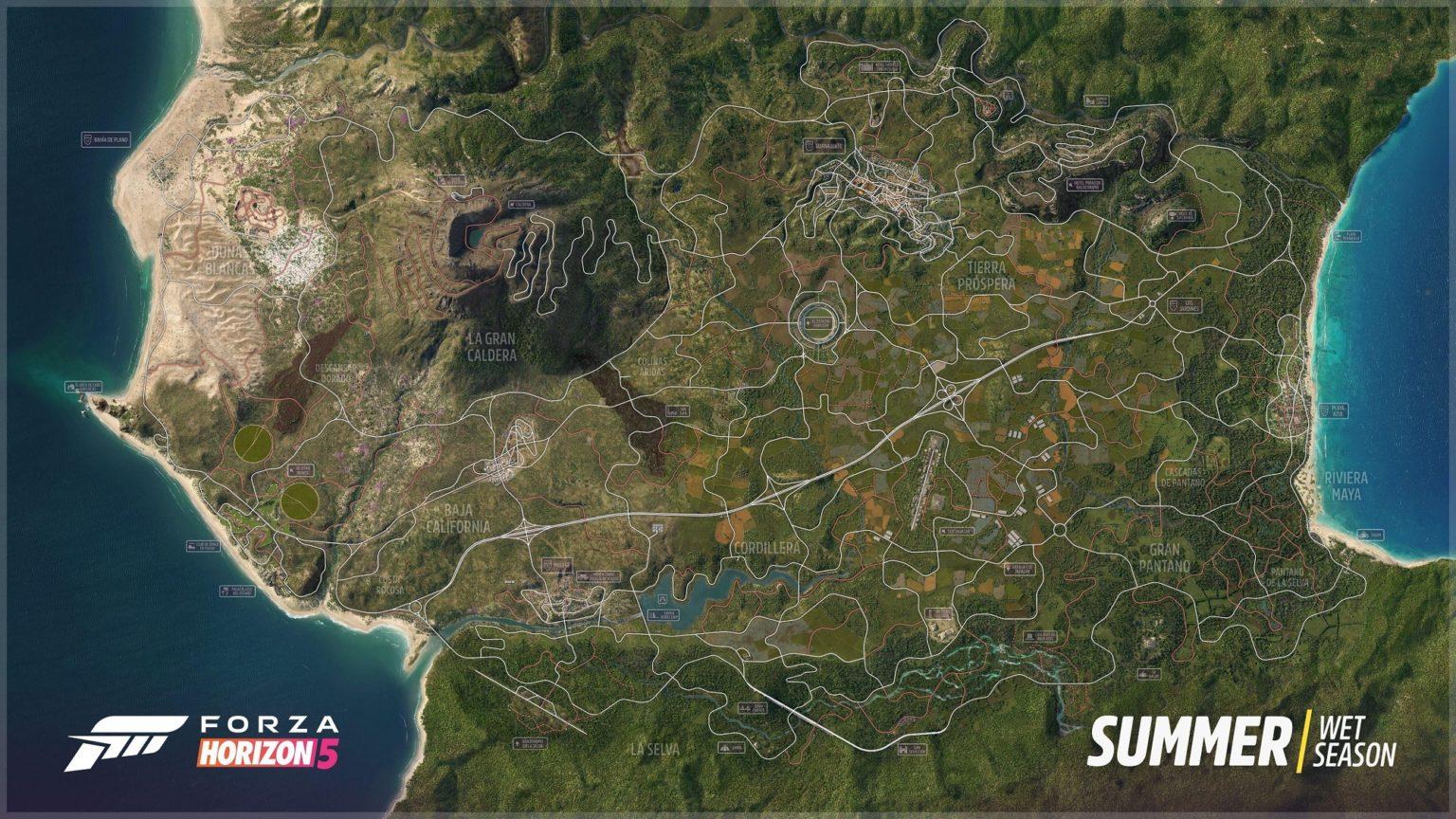نقشه بازی فورتزا هورایزن 5 بیش از 50 درصد بزرگتر نسبت به نسخه قبلی